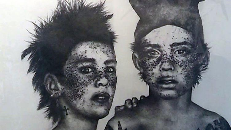 L'une des oeuvres exposées dans le cadre de La Belle et la Bête, Regards Fantastiques (Musée Jean Cocteau)