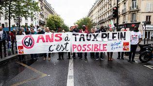 Manifestation conre la réforme des retraites le 24 septembre 2019 à Paris. (MAXPPP)