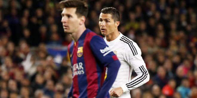 Lionel Messi et Cristiano Ronaldo lors d'un Clasico