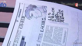 """""""La Mouette bâillonnée"""", journal d'un lycée de Saint-Maur-des-Fossés (Val-de-Marne). ( FRANCE 2)"""