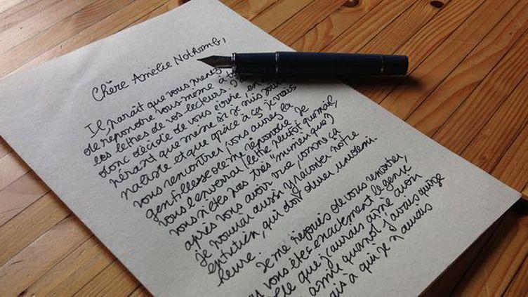 """Lettre à Amélie Nothomb à l'occasion de la publication de """"La nostalgie heureuse"""" (Albin Michel, 2013)  (Laurence Houot / Culturebox)"""