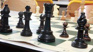 Jeu d'échecs, plateau souple. (MAXPPP)