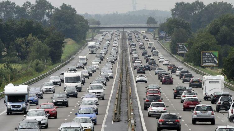 L'autoroute A7 en Isère, le 2 août 2014. (PHILIPPE DESMAZES / AFP)