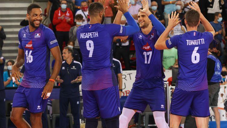L'équipe de France de volley débute bien l'Euro 2021 en s'imposant face à la Slovaquie. (LIONEL VADAM  / MAXPPP)