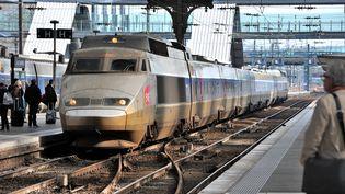 Un TGV entre en gare de Lille Flandres (Nord), le 6 mars 2012. (PHILIPPE HUGUEN / AFP)