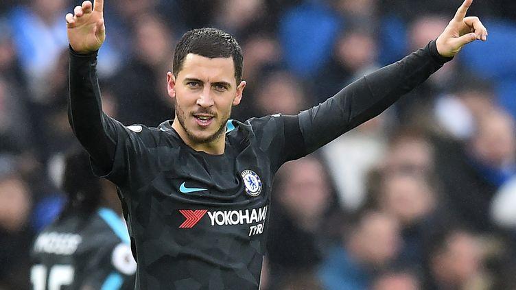 Eden Hazard, l'attaquant de Chelsea, a signé un doublé à Brighton. (GLYN KIRK / AFP)