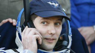 Le spationaute français Thomas Pesquet, après son atterrissage au Kazakhstan, le 2 juin 2017. (SHAMIL ZHUMATOV / AFP)