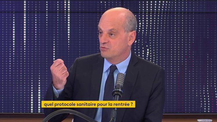 Jean-Michel Blanquer, sur franceinfo, mercredi 28 juillet. (FRANCEINFO / RADIOFRANCE)