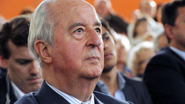 L'ancien Premier ministre Edouard Balladur lors d'un meeting de l'UMP à Paris, le 7 juin 2012. (MEHDI FEDOUACH / AFP)