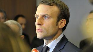 Emmanuel Macron à Alger, le 13 février 2017 (STRINGER / AFP)