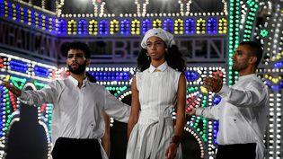 Défilé Dior à Lecce, dans les Pouilles, en Italie (22 juillet 2020) (FILIPPO MONTEFORTE / AFP)