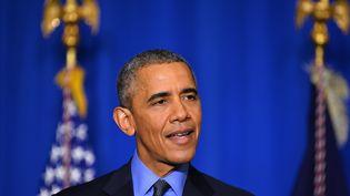Le président américain Barack Obama le 1er décembre 2015 à Paris. (MUSTAFA YALCIN / ANADOLU AGENCY / AFP)