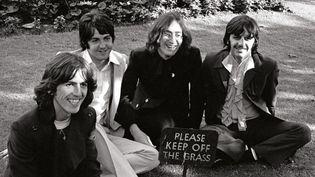 The Beatles : George, Paul, John, Ringo en 1968.  (WA Press)