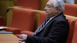 Dominique Strauss-Kahn, le 26 juin 2013, au Sénat (Paris). (MARTIN BUREAU / AFP)