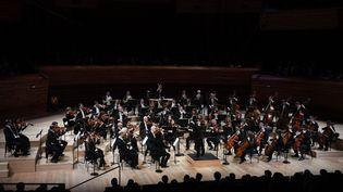 Concert symphonique. Beethoven, Symphonie n°7 / Concerto n°4 Orchestre Philharmonique de Radio France dirigé par Xian Zhang au grand auditorium de la Maison de la Radio. (CHRISTOPHE ABRAMOWITZ / SERVICE PHOTOS)