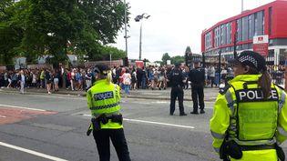 Un concert, avec à l'affiche des groupes locaux, a attiré 50 000 spectateurs, à Manchester (Royaume-Uni) samedi 27 mai, quatre jours après l'attentat meurtrier. (RADIO FRANCE / SÉBASTIEN BAER)