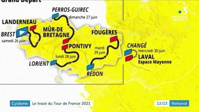 Tour de France 2021 : le tracé est désormais connu