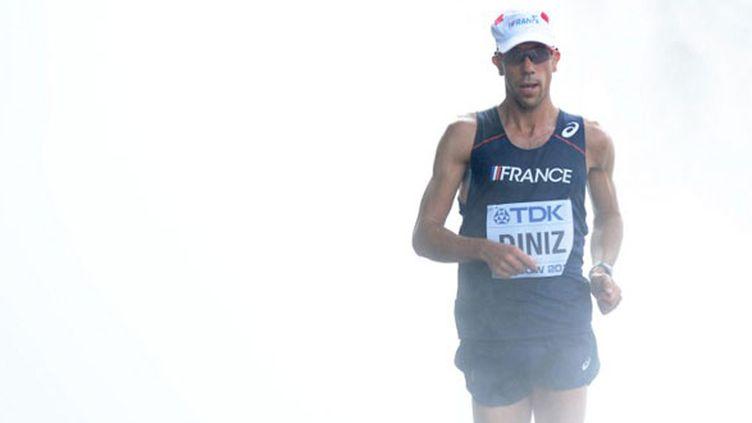 Yohann Diniz n'a pu suivre les hommes de tête sur le 50km marche