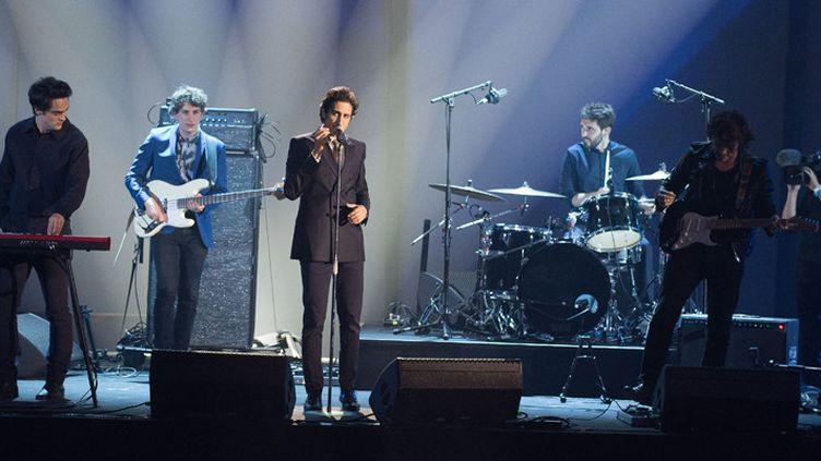 Le groupe français Feu! Chatterton aux Victoires de la Musique, à Paris, le 12 février 2016  (Nivière / Sipa)