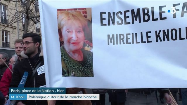 Mireille Knoll : polémique autour de la marche blanche