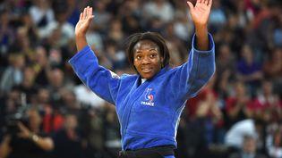 La FrançaiseClarisse Agbegnenou, lors des championnats d'Europe de judo, à Montpellier (Hérault), le 25 avril 2014. (PASCAL GUYOT / AFP)