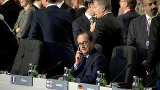Le président François Hollande, le 4 septembre 2014 à Newport (Royaume-Uni). (ALAIN JOCARD / AFP)