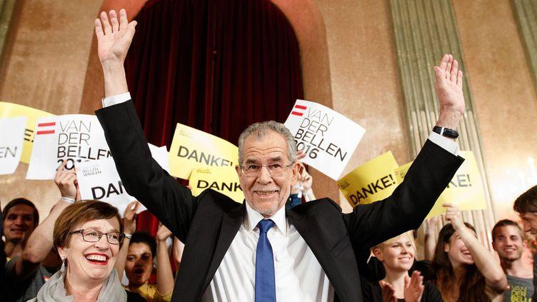 (Le candidat écologiste Alexander Van der Bellen remporte l'élection présidentielle autrichienne © MaxPPP)