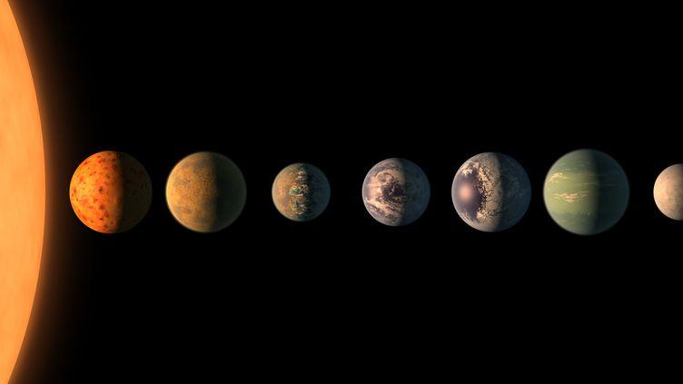 Voici à quoi le système de sept planètes de la taille de la Terre découvert par la Nasa pourrait ressembler. (NASA)