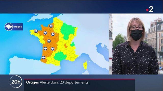 Orages : 28 départements placés en alerte orange par Météo France
