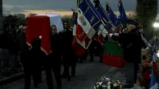 Léon Senet a été inhumé mercredi 5 novembre 2014. (CAPTURE D'ÉCRAN FRANCE 3)