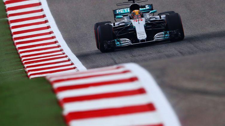 Lewis Hamilton (Mercedes) sur le circuit d'Austin aux USA (CLIVE ROSE / GETTY IMAGES NORTH AMERICA)