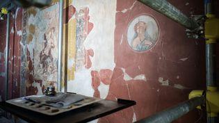 Une fresque de la Maison du Bicentenaire à Herculanum. (MANUEL DORATI / CONTROLUCE)