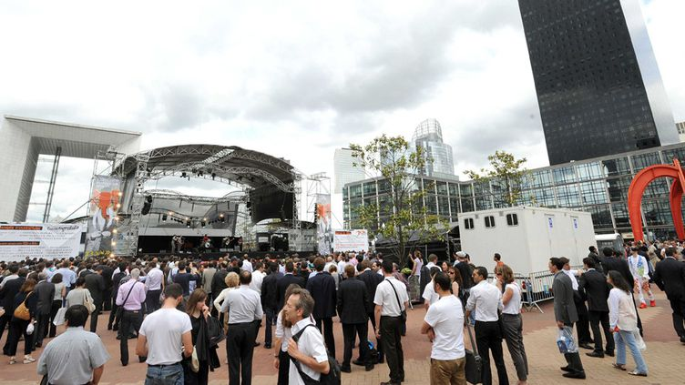Un concert sur le parvis de La Défense, lors de l'édition 2012 de La Défense Jazz Festival (27 juin 2012)  (Lionel Urman / Sipa)