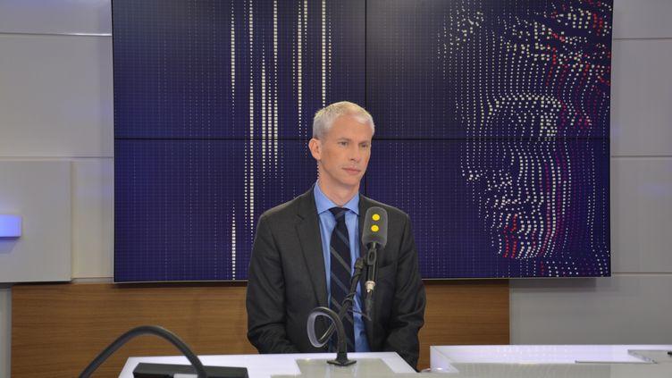 Franck Riester, Député Les Républicains de Seine-et-Marne, co-président du groupe Les Constructifs. (RADIO FRANCE / JEAN-CHRISTOPHE BOURDILLAT)
