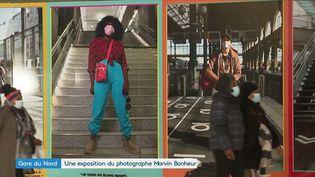 L'exposition Marvin Bonheur à la Gare du Nord (Paris). (Images F3)