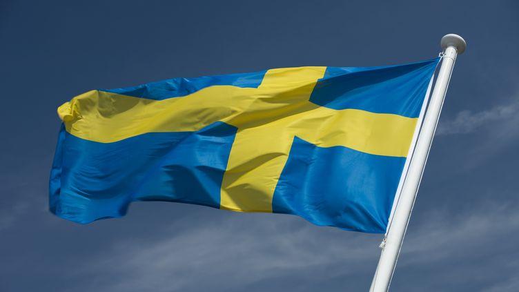 Un drapeau suédois. (RUSSEL KORD / PHOTONONSTOP)