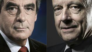 François Fillon et Alain Juppé s'affrontent lors du dernier débat de la primaire à droite, jeudi 24 novembre 2016. (KENZO TRIBOUILLARD / AFP)