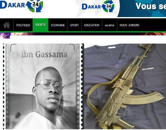 Le djihadiste Sénégalais Sadio Gassama veut imposer la charia dans son pays. (Capture d'écran du site Dakar 24)