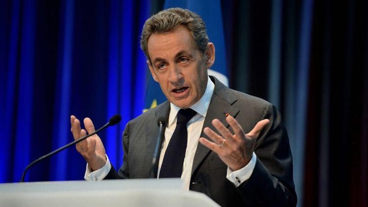 Nicolas Sarkozy en meeting à Caen (Calvados ), le 10 septembre2014. (  MAXPPP)