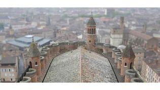 La cathédrale Sainte-Cécile d'Albi (Tarn), vue de haut  (DR)