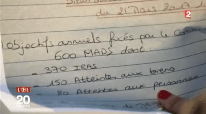Cahier de consignes dans un commissariat à Marseille (Oeil du 20H)