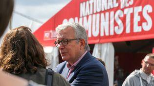 Le secrétaire national du PCF, Pierre Laurent, à la Fête de l'Humanité à la Courneuve (Seine-Saint-Denis), le 16 septembre 2017. (MICHEL STOUPAK / AFP)