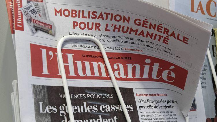 """Le quotidien """"L'Humaniste"""" appelle à la mobilisation générale pour sauver le journal, dans son édition du 28 janvier 2019. (MAXPPP)"""