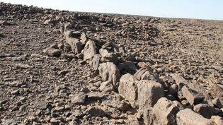 Mystérieuse structure de pierres dans le désert saoudien (octobre 2017)  (GRANT SCROGGIE / THE UNIVERSITY OF WESTERN AUSTRA / AFP)