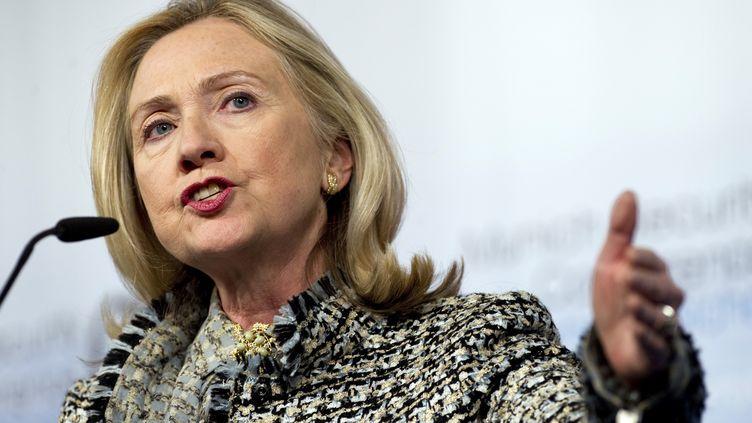 La secrétaire d'Etat américaine Hillary Clinton à Münich (Allemagne) le 4 février 2012. (JIM WATSON / REUTERS)