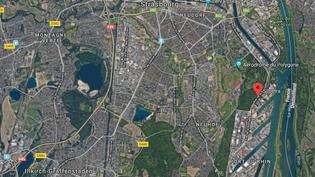 L'explosion d'un silo à grains a secoué le quartier du Port-du-Rhin à Strasbourg (Bas-Rhin), mercredi 6 juin 2018. (RADIO FRANCE / FRANCEINFO)