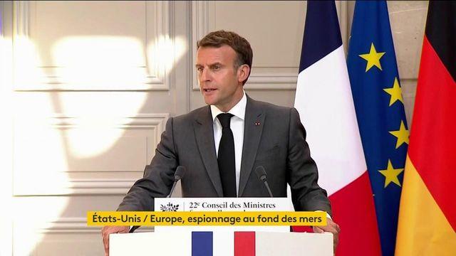 Après les révélations sur l'espionnage de cadres européens par la NSA, Emmanuel Macron demande des explications