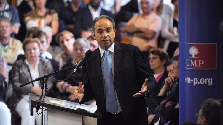 Jean-François Copé, le 2 juillet 2012, lors d'un meeting à Fontenay-sur-Eure (Eure-et-Loir). (JEAN-FRANCOIS MONIER / AFP)