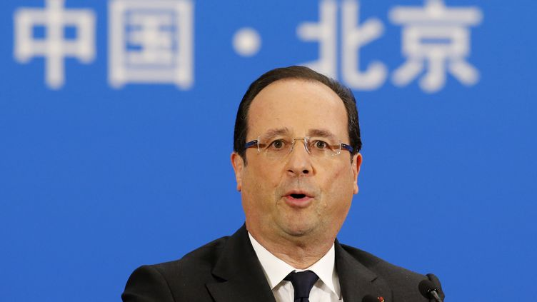 François Hollande à Pékin (Chine), le 25 avril 2013. (KIM KYUNG-HOON / AFP)