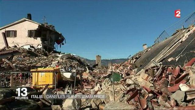 Italie : dans les ruines d'Amatrice